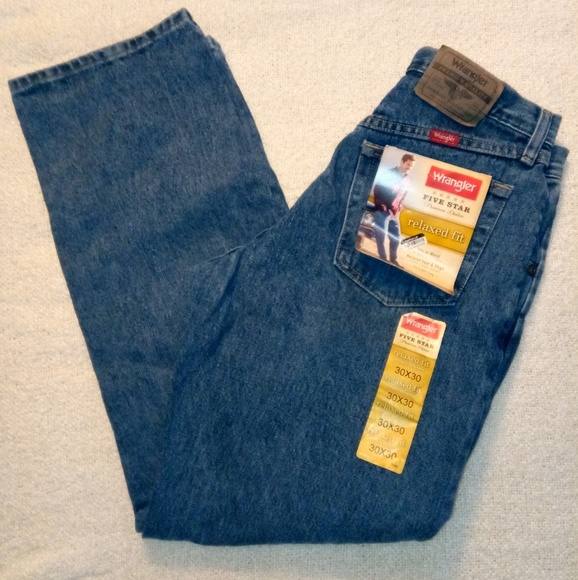 b6c89aa1c55 Mens Wrangler 5-Star Premium Relaxed Fit Jeans